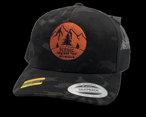 Scenic Multicam Black Snapback Hat
